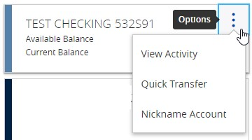 Quick edit funds transfers