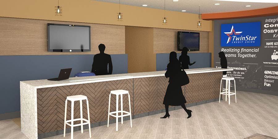 New Hazel Dell branch interior
