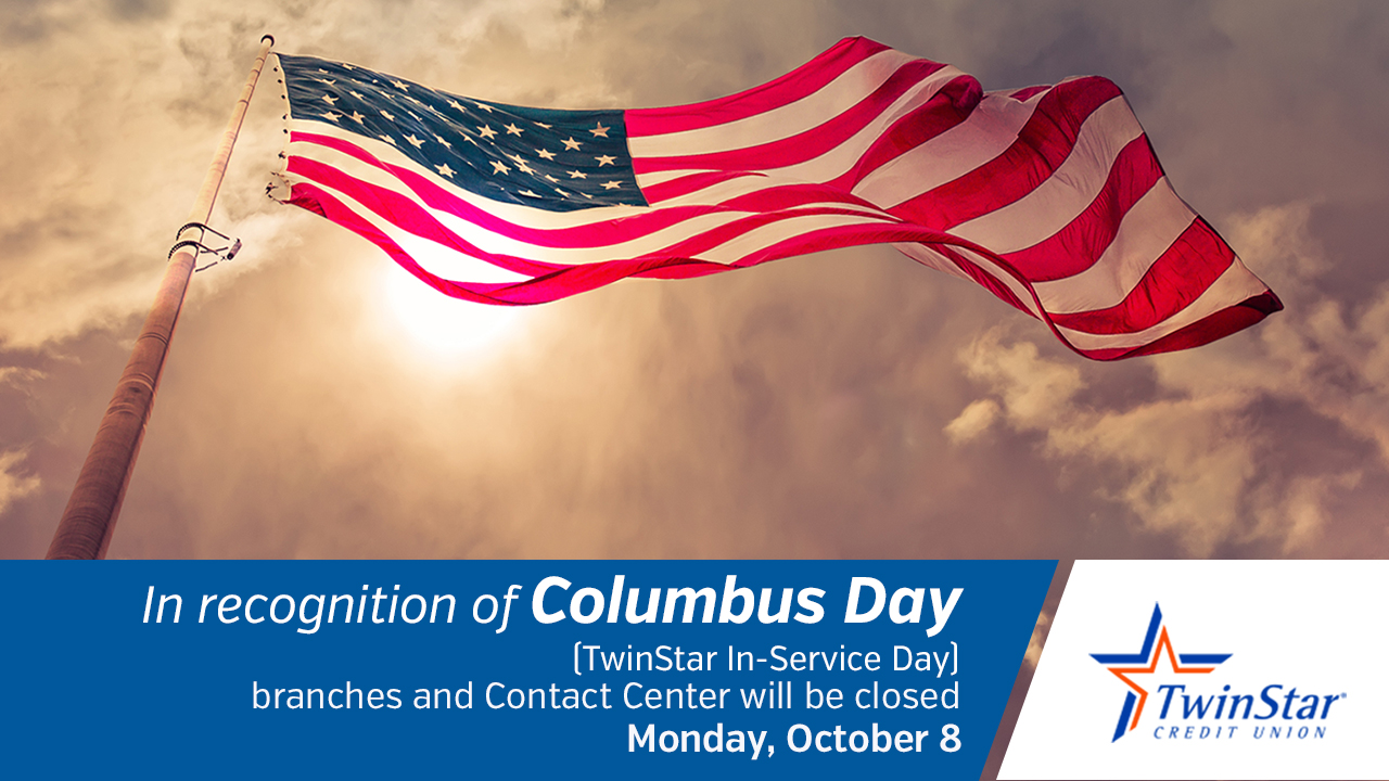 Columbus Day Holiday Closure