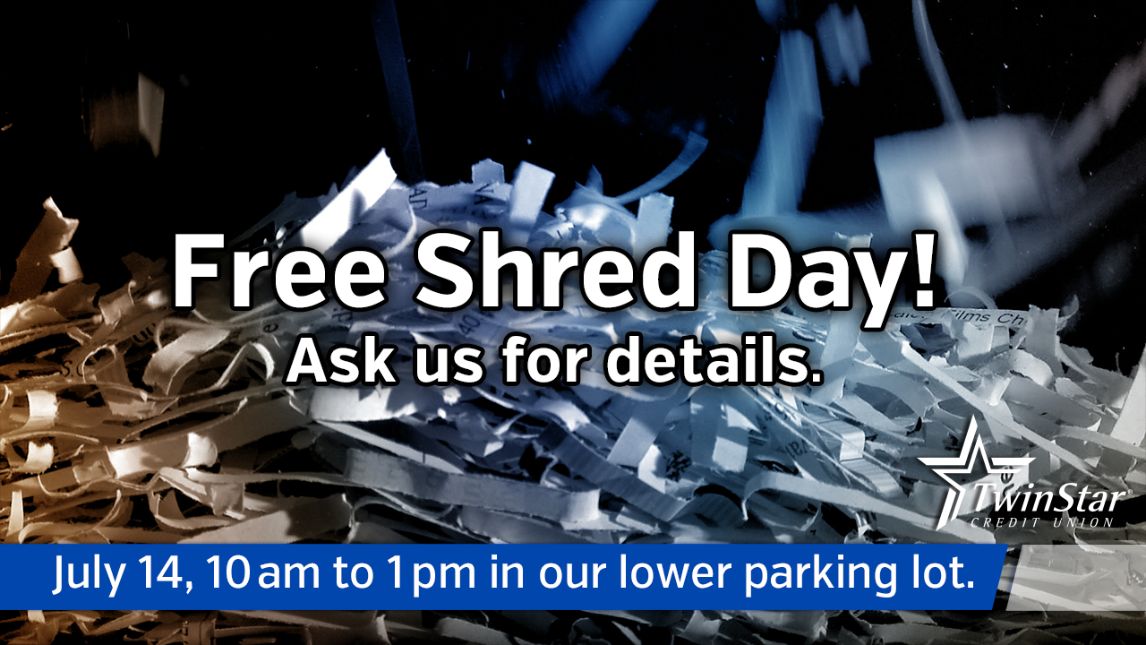 Free Shred Day - Olympia Branch