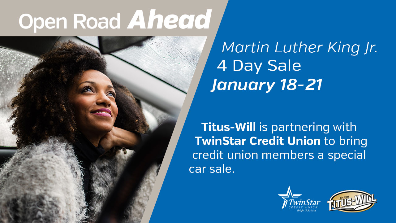 Martin Luther King Jr. 4 Day Auto Sale