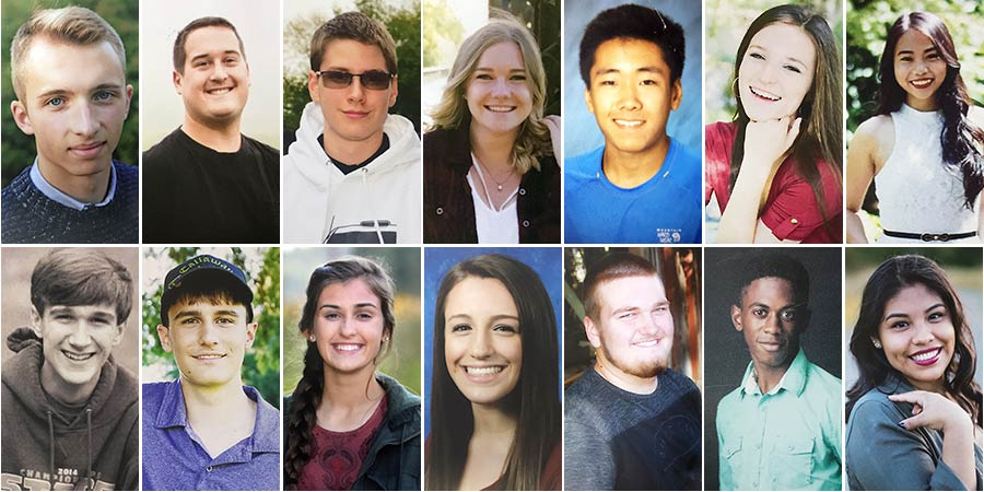 Photo collage of the 2017 High School Scholarship recipients