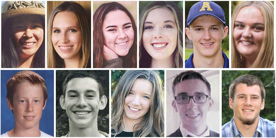 2018 High School Scholarship Recipients