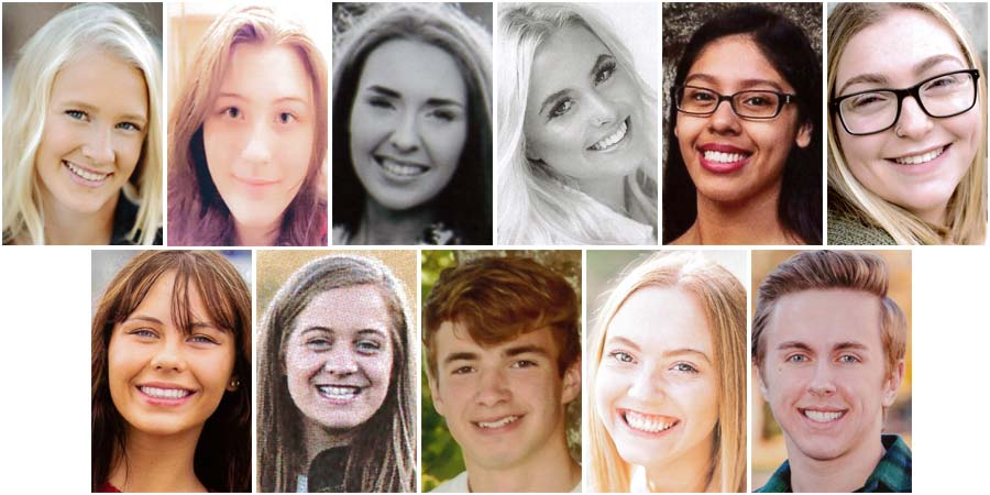 2016 High School Scholarship recipients (pictured left to right)