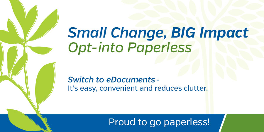 Opt-into Paperless promo image