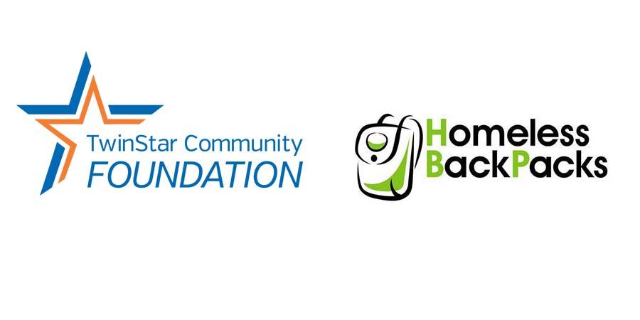 TwinStar Community Foundation and Homeless Backpacks logos