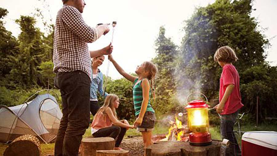 Family having fun in the outdoors