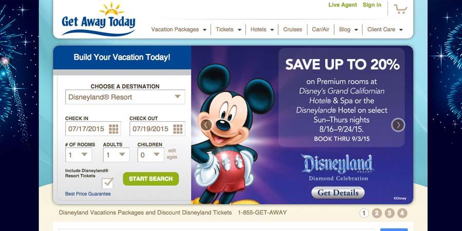 Screenshot of getawaytoday.com