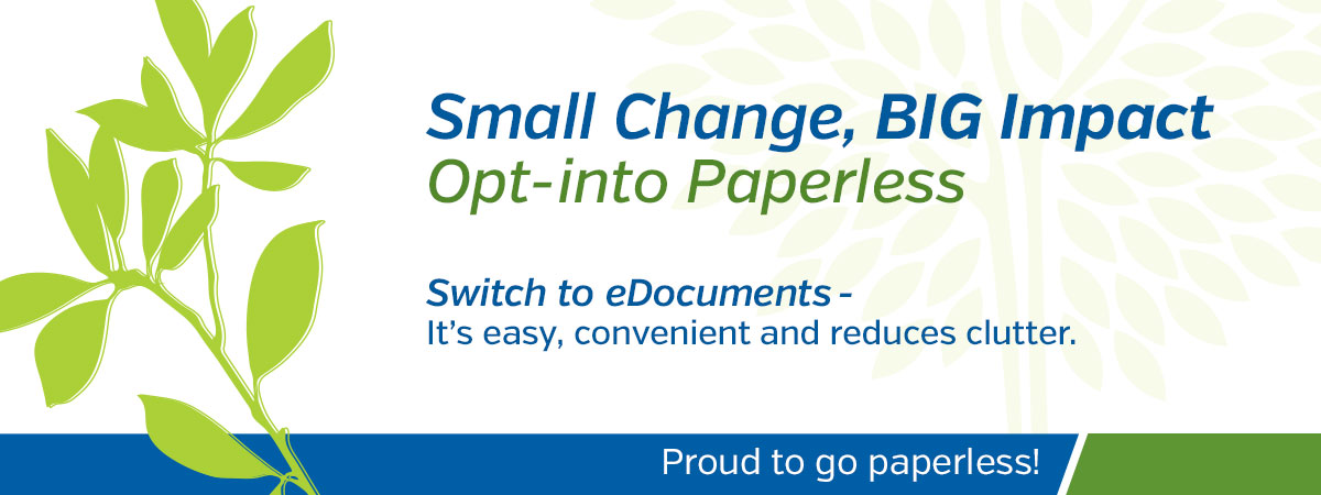Proud to go paperless!