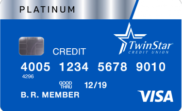 visa platinum credit card image